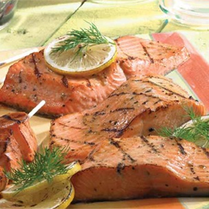 Lemon and Spice Scented Sockeye with Zesty Tartar Sauce